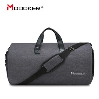Modoker New Travel Garment Bag Shoulder Strap Duffel Bag Business Fashion Carry on Hanging Clothing Multiple Pockets