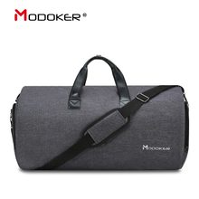 Modoker New Travel Garment Bag Shoulder Strap Duffel Bag Business Fashion Carry on Hanging Clothing Multiple Pockets(China)