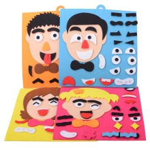 1 Набор, детская игрушка, сделай сам, головоломка для изменения эмоций, для обучения выражению лица, игрушки для детей, AN88