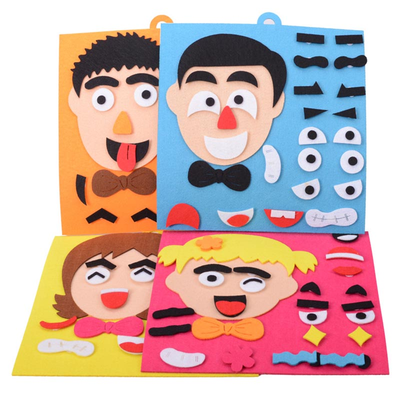1Set Kids Toy DIY Emotion Change Puzzle Facial Expression Learning Toys For Children AN88