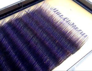 Image 2 - HBZGTLAD C/D curl 0.1mm 8 14 Faux cils dégradé de couleur pourpre cils colorés individuels Faux volume extensions de cils