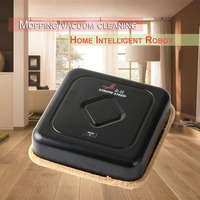 Ultra Thin Design USB Charging Smart Washable Microfiber Auto Robotic Mop Floor Robot Vacuum Cleaner Cleaning