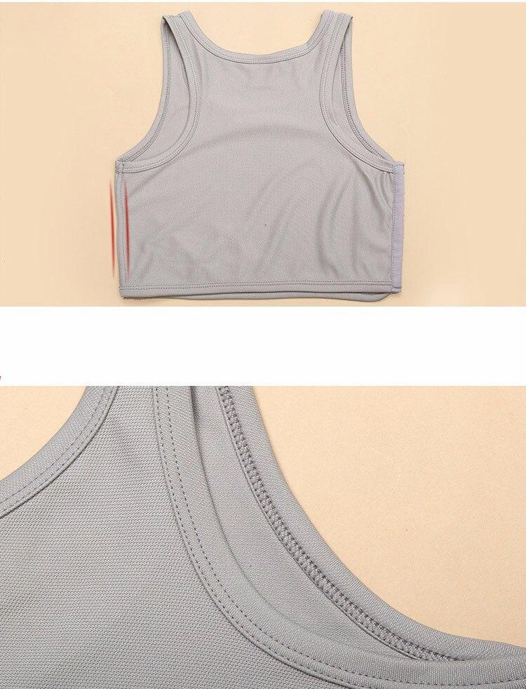 respirável curto peito binder verão cos sutiã