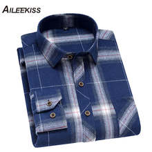 AILEEKISS Brand Men Shirt Cotton Casual Mens Shirts Spring Summer Office Man Work Plaid Male Camisa Party XT795