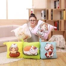 1pcs Big Size Natsume Yuujinchou Nyanko Sensei Plush Pillow Blanket Cat Anime Multifunction Pillow Doll Toy Christmas Gift