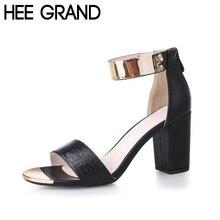 HEE GRAND Brand Gold Patchwork Women Sandals 2017 Snake Skin PU T-Strap Fashion Flip Flop 6 CM Summer Shoes Woman XWZ2039