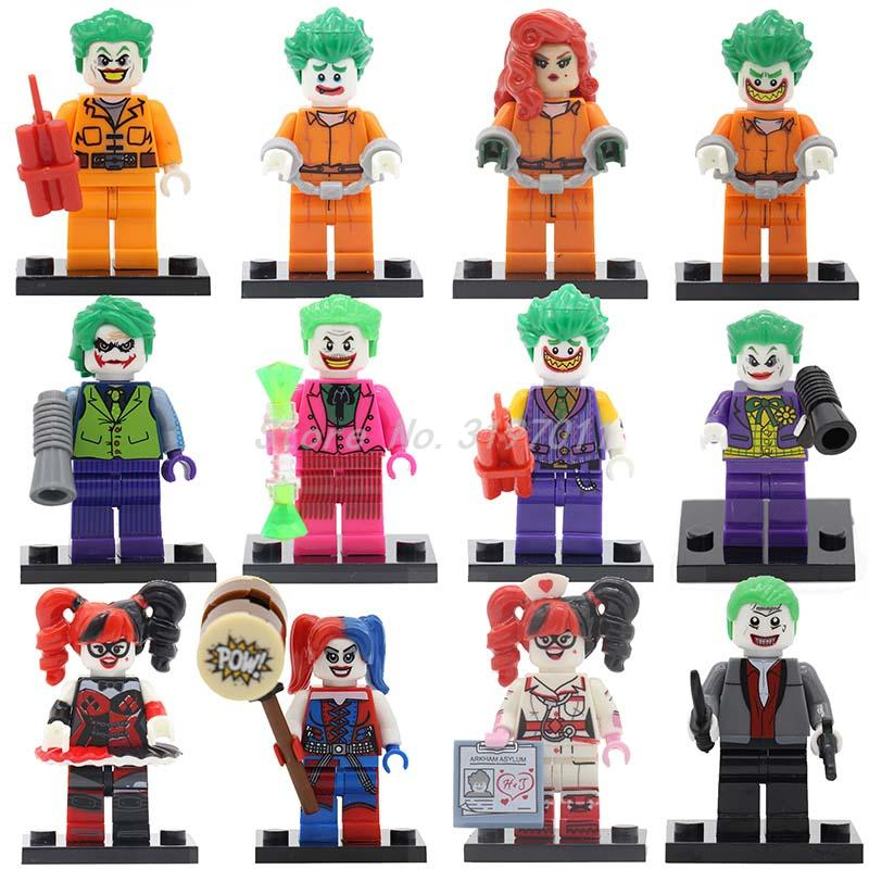 Joker Batman Figure Suicide Squad Harley Quinn Villain Building Blocks Set Bricks Classic Super Hero Kid Toys For Children ...