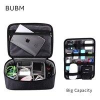 Brand Digital Accessories Storage Bag Big Capacity Handbag Cable Organizer Case Drive Disk USB Charger Adapt