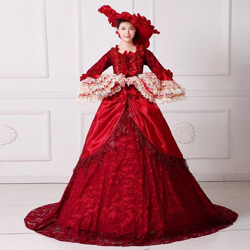 Red Victoria Royal Dress Royal Party Dress Elegant Royal Red Dress European New Year Clothing Festival Party Clothes Clothes Clothes Dress Aliexpress