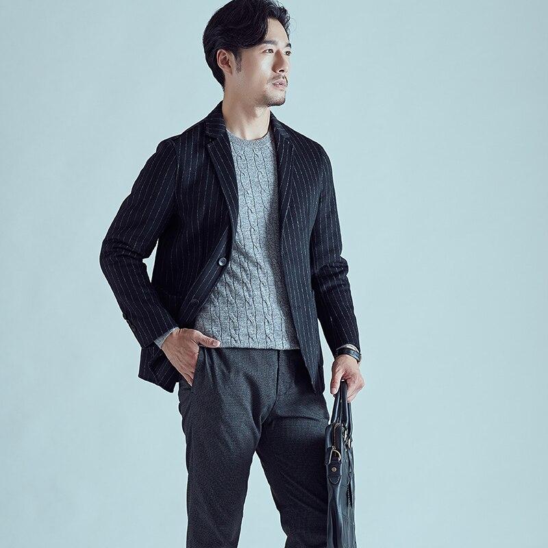 Casual M 80 face Hommes De Rayé 3xl gris Double Laine 2018 Kolmakov Manteaux Mode Affaires Nouvelle Vestes Vêtements Outwear Court Noir T64nnPq
