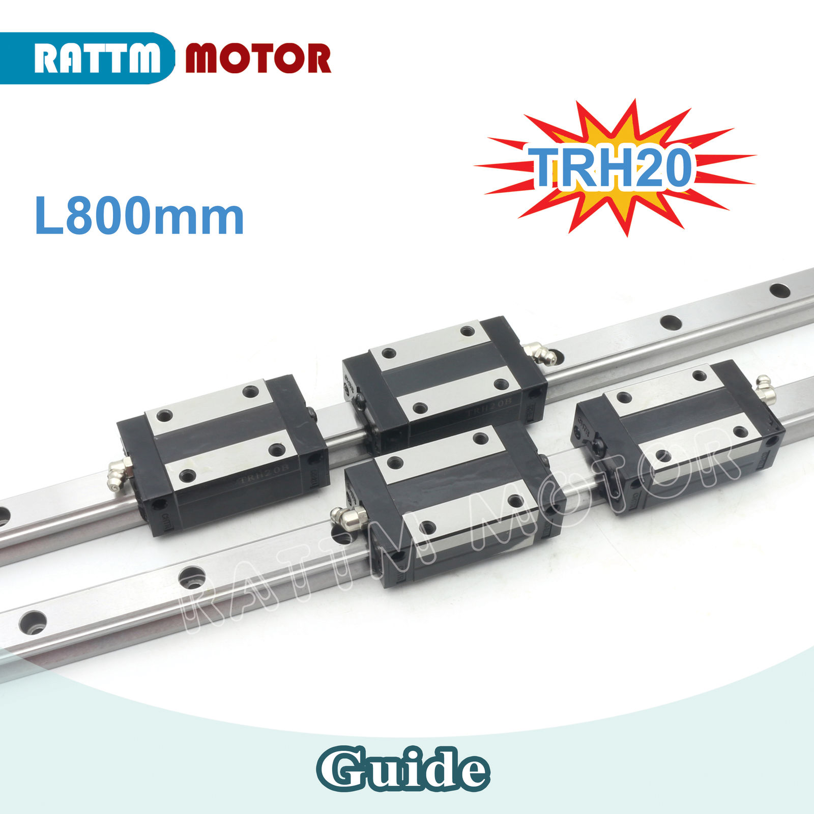 20mm Square Linear Rail Guideway TRH20 800mm &TRH20B Slider Block for CNC Router + TRH20B Square block large format printer spare parts wit color mutoh lecai locor xenons block slider qeh20ca linear guide slider 1pc