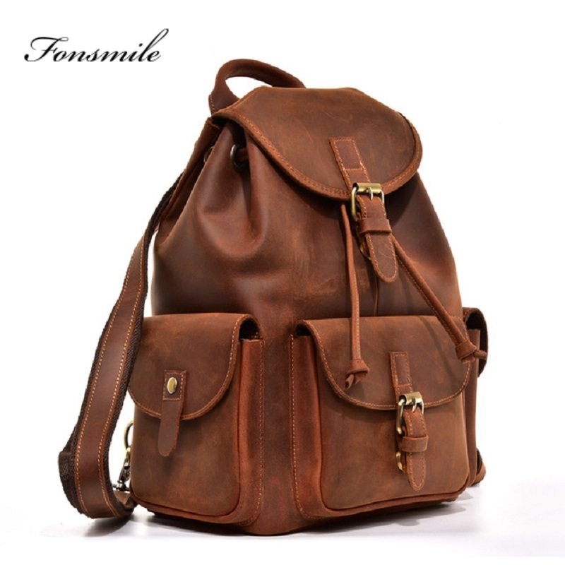 T016 Fashion Backpack Cow Leather High-end Business Mens Travel Backpack Large Capacity Leather for Students Bag Magazine Back T016 Fashion Backpack Cow Leather High-end Business Mens Travel Backpack Large Capacity Leather for Students Bag Magazine Back