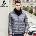 Pioneer camp novas casual ultraleve pato branco para baixo homens jaqueta parkas de roupas de marca de alta qualidade à prova d' água masculino plus size casaco