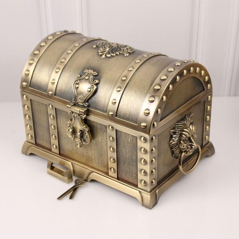 Lock Jewelry-Collection Treasure-Box Wedding-Jewelry-Storage Metal Creative Large European