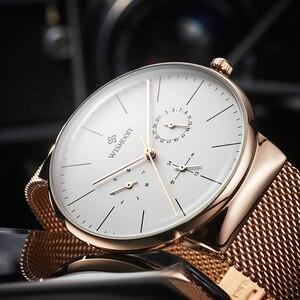 Image 3 - 女性の腕時計トップブランドの高級日本クォーツムーブメントステンレス鋼スライバー白ダイヤル防水腕時計レロジオ feminino