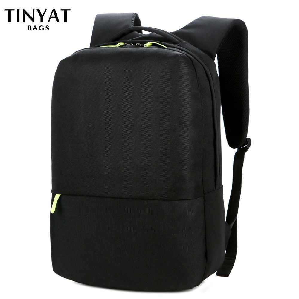Tinyat Pria Ransel Sekolah untuk Teenages 15 Inch Pria Wanita Ransel Laptop Perjalanan Bagpack Siswa Tahan Air Perjalanan Mochila 710