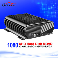 Free Shipping AHD 1080 8CH Hard Disk Mobile Dvr Cycle Recording HDMI Playback Video Recorder Mdvr For Bus Train