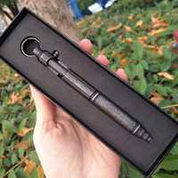 Odkryty samoobrony Retro maszyna ze stali nierdzewnej pistolet długopis śruba ze stali nierdzewnej typ długopis taktyczny wiszący pierścień EDC odkryty długopis