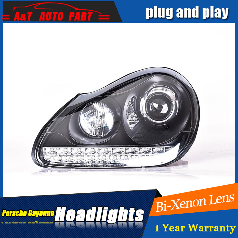 car Styling LED Head Lamp for Porsche Cayenne headlights for Cayenne 2004 2007 LED angle eyes