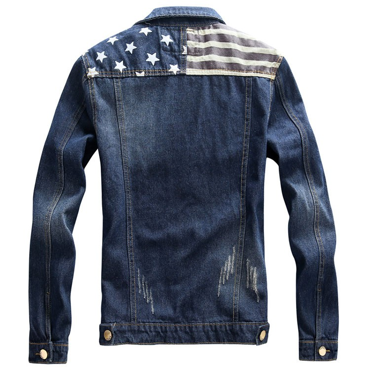 Denim Jacket men USA Design fashion Jeans Jackets Slim fit American Style Vintage Mens Jacket and Coat outdoors Jeans clothing (11)