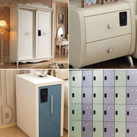 Fingerprint Lock Digital Cabinet Drawer Wardrobe Hutch Locker Electronic Keyless Lock SD998