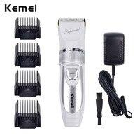 110V 220V Extra Battery Titanium Blade Kemei Professional Hair Trimmer Electric Hair Clipper Cutting Machine Shearer