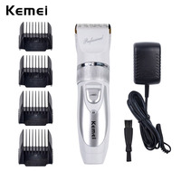 110V 220V Extra Battery Titanium Blade Kemei Professional Hair Trimmer Electric Hair Clipper Cutting Machine Shearer