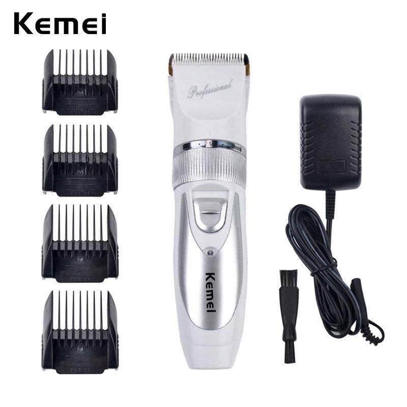 110V-220V Include Battery Titanium Blade Kemei Professional Hair Trimmer Electric Hair Clipper Cutting Machine Shearer -P49
