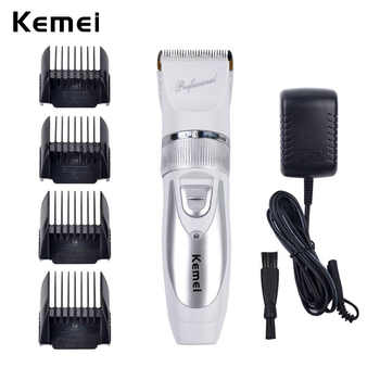 110V-220V Include Battery Titanium Blade Kemei Professional Hair Trimmer Electric Hair Clipper Cutting Machine Shearer -P49 - DISCOUNT ITEM  50% OFF All Category