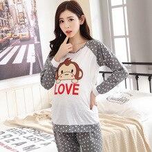 Maternity Pajama Breast Feeding Nightwear Nursing Pajamas Set Maternity Nursing Sleepwear font b Pregnancy b font