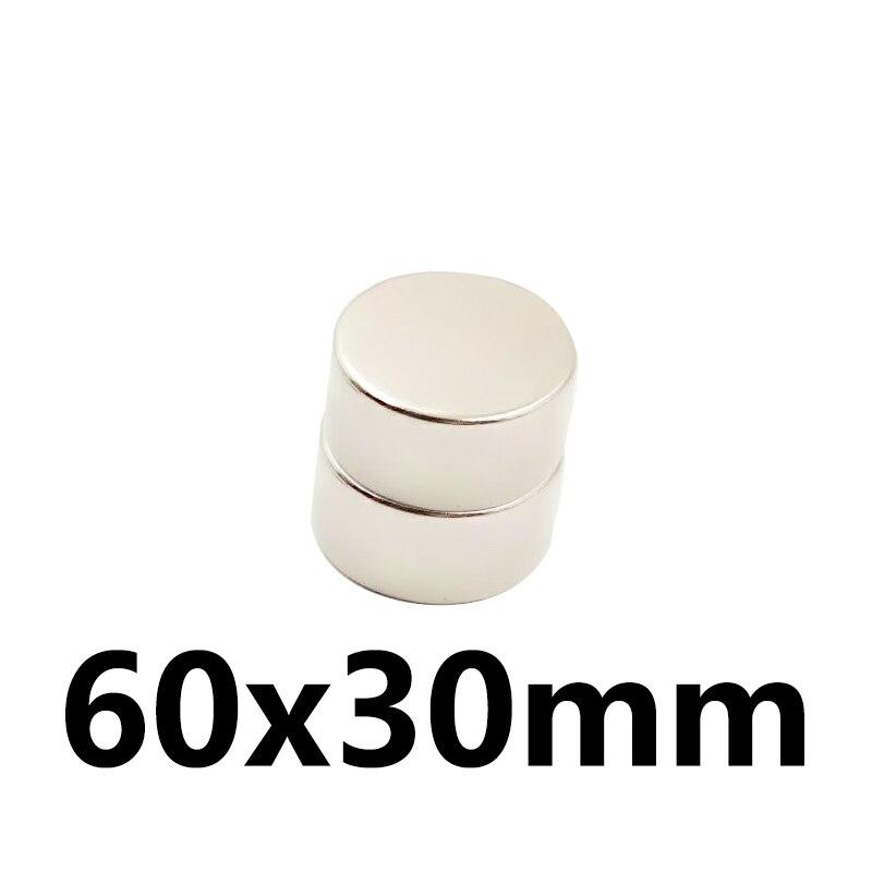 1 pcs 60x30mm N35 Mini Super Forte Rare Terre Réfrigérateur Permanet Aimant Petit Rond Néodyme Aimant