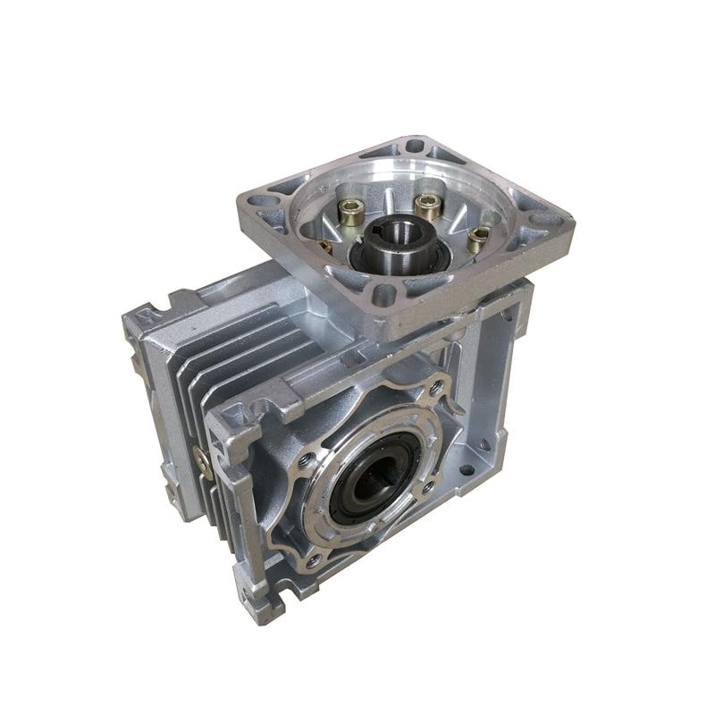 NMRV040 86mm Worm gear reducer Reduction ratio 5:1 to 100:1 input 14mm shaft for NEMA34 stepper motor nmrv50 110mm worm gear reducer reduction ratio 5 1 to 100 1 input 19mm shaft for nema42 stepping motor