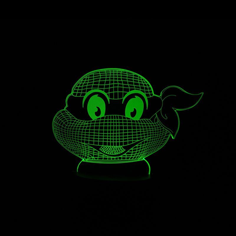 NEW Teenage Mutant Ninja Turtles Figure Modern Atmosphere 3D LED Visual Lamp Night Light Bedroom Tortugas Party Decorative Gift