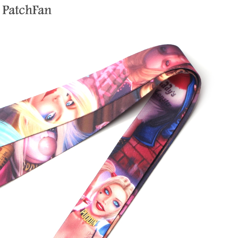 Patchfan Suicide Squad funny men kids keyring keychain neck lanyard webbing ribbon neck strap badge phone holder necklace A1739 in Ribbons from Home Garden