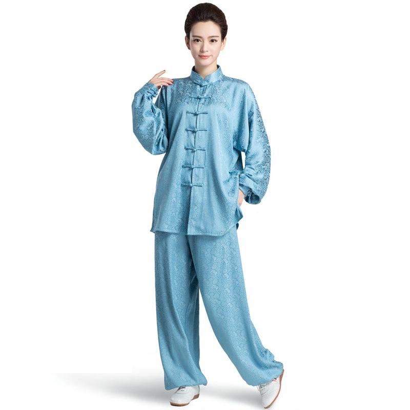 New Style Longfeng Pattern Chinese Woman Kung Fu Suit Tai Chi Clothing Women Taiji Uniform Wushu Kung Fu Clothes 4 Colors