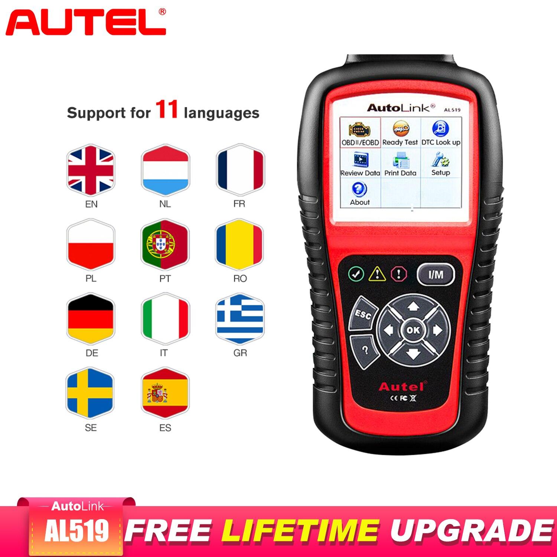 Autel AutoLink AL519 OBD2 Scanner Car Diagnostic Tool OBDII Auto Scanner Code Reader Scanner Better Than elm 327 v1.5
