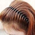 2PC Mens Women Unisex Black Wavy Hair Hoop Band Sport Barrette Headband Hair Styling Accessories