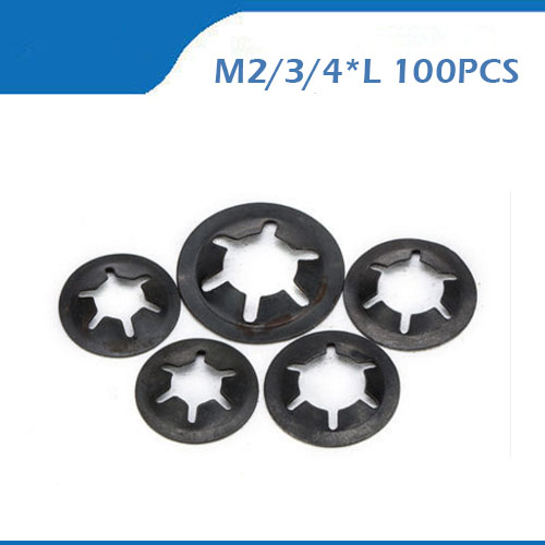 Free shpping M2 2 5 3 4mm 100pcs lot High Quality steel Plum Washer Connector Gasket