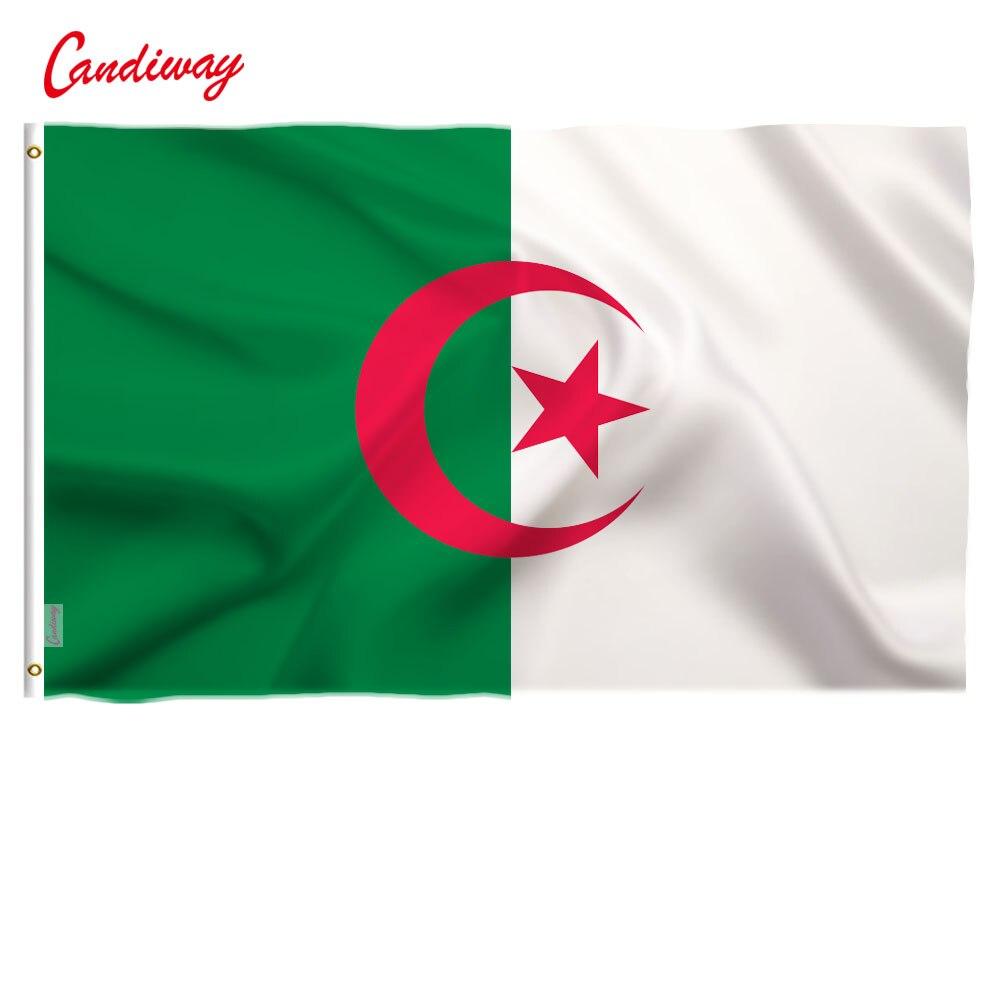 90 X 150cm    Algeria Flag National Flag Banner Office Activity Parade Festival Home Decoration          NN031