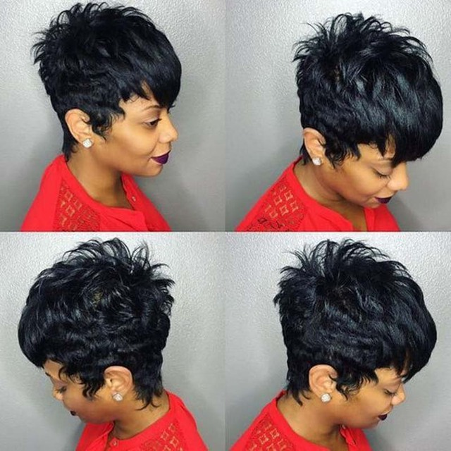 Hot Salling 27 Pieces Short Hair Weave With Free Closure Brazilian