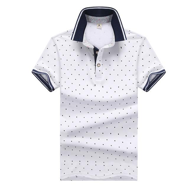 Polo Shirt Männer Sommer Marke Baumwolle Polos Herren Mode Slim Fit Kurzarm Dot Polo Shirts 2019 Mode Polo Para hombre