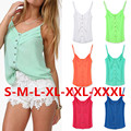 Women Shirt Spring Summer Fashion Sleeveless Tops Ladies Sexy 6 Color Chiffon Blouse Loose Spagetti Strap Vest