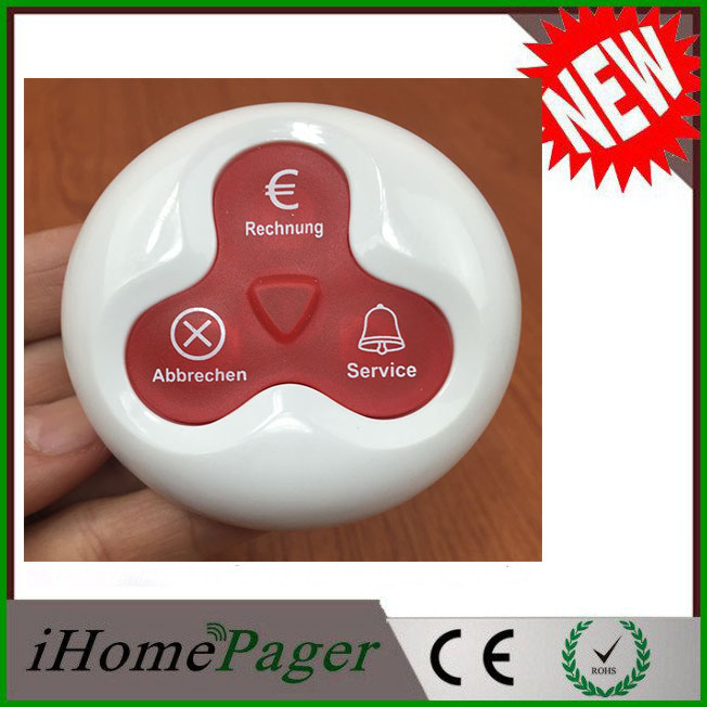 Newest Wireless Call System In German Call Button Euro Symbol In