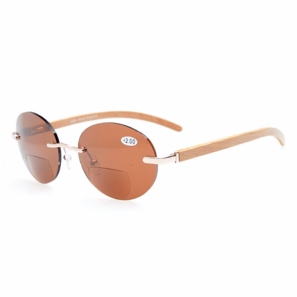 Eyekepper Federscharniere runde Sonnenbrille Braun Linse Gold Rahmen XXd2LE5BV