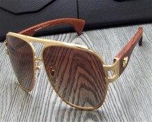 a11542619c2 EYELOOKWEAR Retro Wooden Temple Drivers Polarized Sunglasses Brand Design  Men Goggle