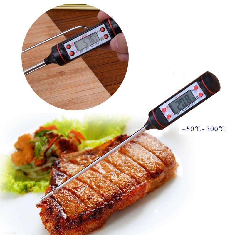 BBQ Kitchen Mini Digital Cooking Thermometer Sensor LCD Display Digital Probe Cooking Thermometer Food Temperature Sensor