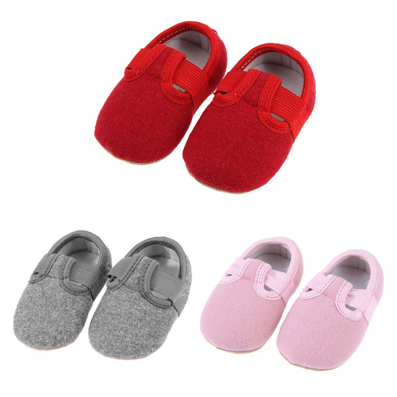 Casual Solid Color Baby Shoes Spring Autumn Newborn Baby Cotton First Walkers Soft Bottom Anti-skid Shoes Boys Girls Prewalkers