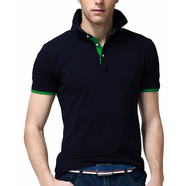 2017 Марка Мужские Polo Рубашки С Коротким Рукавом Твердых Мужчин Polo Homme тонкий Поворот Вниз Воротник Camisa Плюс Размер Polo Shirt Mens одежда