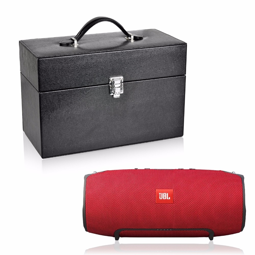 PU Leather Travel Case For JBL Xtreme Portable Splashproof Rechargeable Wireless Bluetooth Speaker Extra Space for Plug & Cables