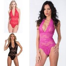 New Arrival Women Sleepwear Deep V-neck Sexy Baby Dolls Plus Size M-3XL XXL XXXL Sexy one piece sexy lingerie women nightwear